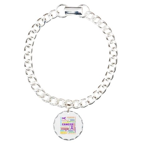 GIST Cancer Awareness Collage Charm Bracelet, One