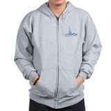 Ocean City MD - Sailboat Design. Zip Hoody