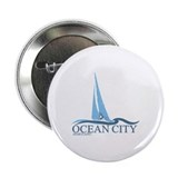"Ocean City MD - Sailboat Design. 2.25"" Button (10"