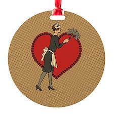 Retro Maid Ornament