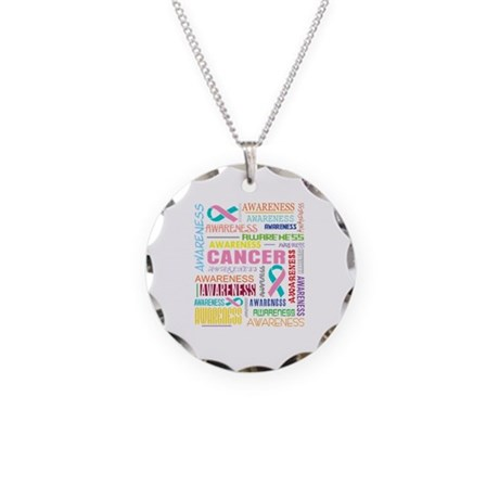 Hereditary Breast Cancer Awareness Necklace Circle