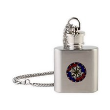 Grateful Dead Compass Flask Necklace