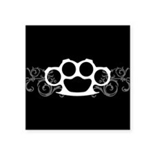 "Brass Knuckles Square Sticker 3"" x 3"""