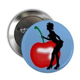 "Burlesque Cherry  2.25"" Button"
