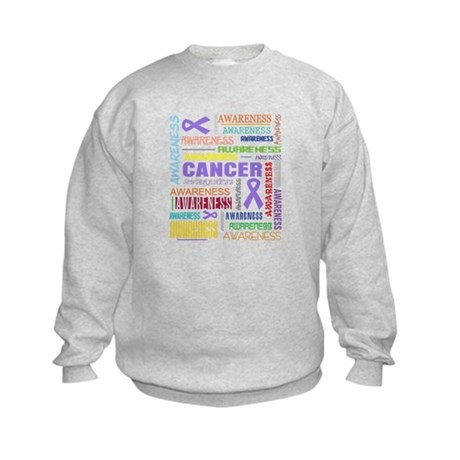Hodgkins Lymphoma Awareness Collage Kids Sweatshir