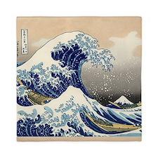 Japanese Tsunami Wave art Queen Duvet