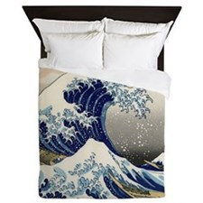 Japanese Tsunami Wave Art Queen Duvet