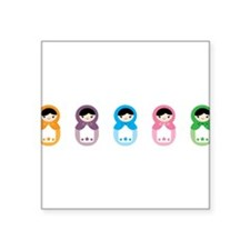 "Matryoshka Dolls Square Sticker 3"" x 3"""