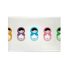 Matryoshka Dolls Rectangle Magnet