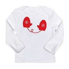 Winter Mittens - Red Long Sleeve Infant T-Shirt