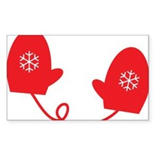 Winter Mittens - Red Decal