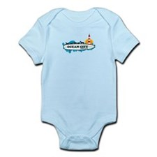 Ocean City MD - Surf Design. Infant Bodysuit