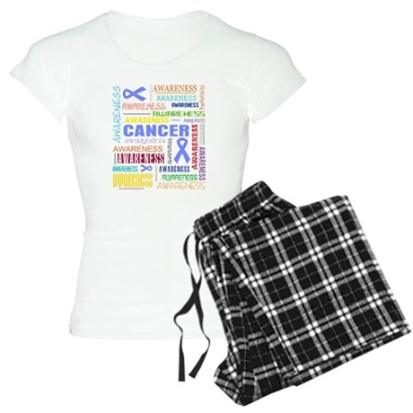 Intestinal Cancer Awareness Collage Women's Light