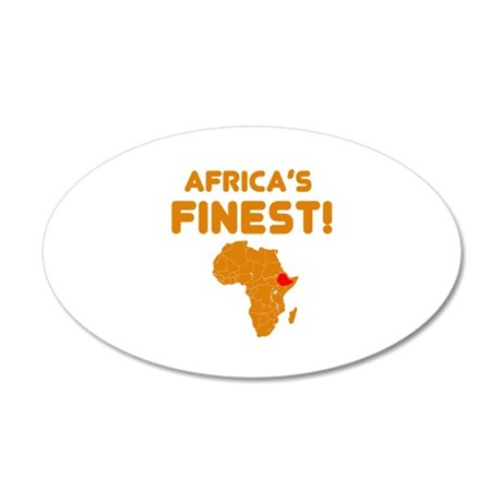Ethiopia map Of africa Designs 20x12 Oval Wall Dec