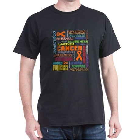 Kidney Cancer Awareness Collage Dark T-Shirt