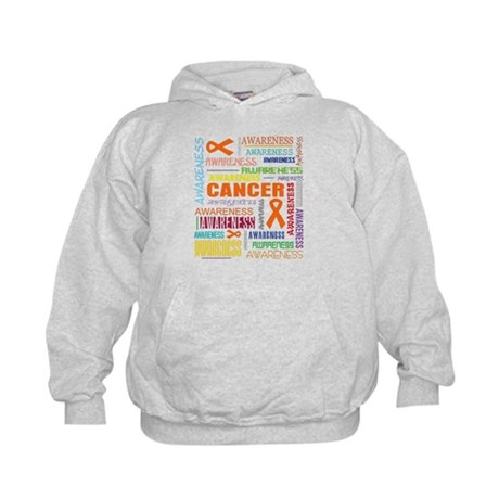 Kidney Cancer Awareness Collage Kids Hoodie