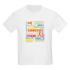 Kidney Cancer Awareness Collage T-Shirt