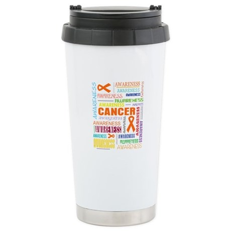 Kidney Cancer Awareness Collage Ceramic Travel Mug