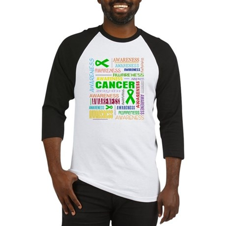 Kidney Cancer Awareness Collage Baseball Jersey