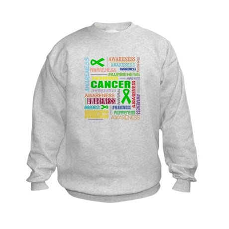 Kidney Cancer Awareness Collage Kids Sweatshirt