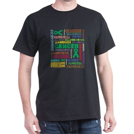 Liver Cancer Awareness Collage Dark T-Shirt