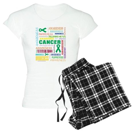 Liver Cancer Awareness Collage Women's Light Pajam