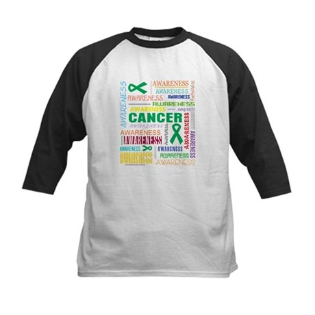 Liver Cancer Awareness Collage Kids Baseball Jerse