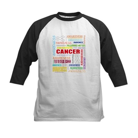 Lung Cancer Awareness Collage Kids Baseball Jersey