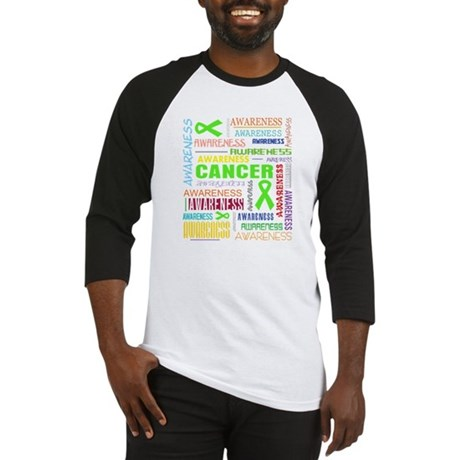 Lymphoma Awareness Collage Baseball Jersey