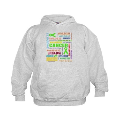 Lymphoma Awareness Collage Kids Hoodie