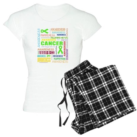 Lymphoma Awareness Collage Women's Light Pajamas