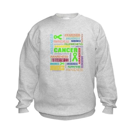 Lymphoma Awareness Collage Kids Sweatshirt