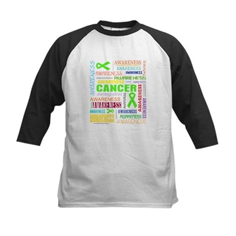 Lymphoma Awareness Collage Kids Baseball Jersey