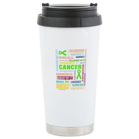 Lymphoma Awareness Collage Ceramic Travel Mug