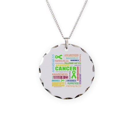 Lymphoma Awareness Collage Necklace Circle Charm