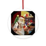 Santa's Golden (Bmr) Ornament (Round)