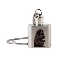 Irish Water Spaniel Flask Necklace