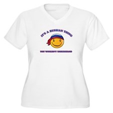Russian Smiley Designs T-Shirt