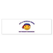 Russian Smiley Designs Bumper Sticker