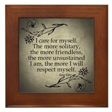 Jane Eyre Care For Myself Framed Tile