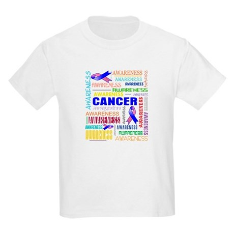 Male Breast Cancer Awareness Collage Kids Light T-