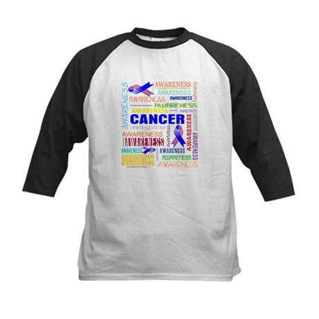 Male Breast Cancer Awareness Collage Kids Baseball