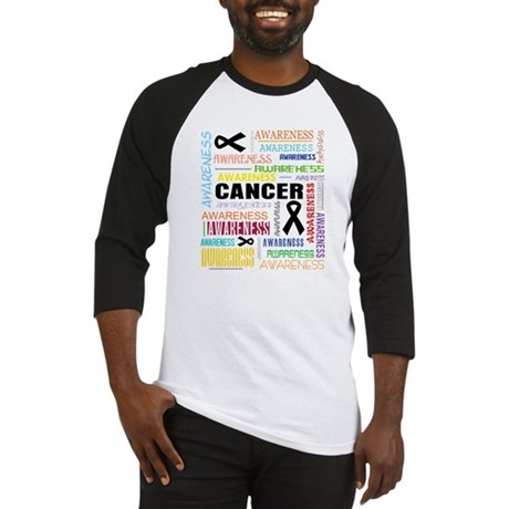 Melanoma Awareness Collage Baseball Jersey
