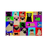Lots o Pugs Rectangle Magnet
