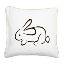 rabbit Square Canvas Pillow