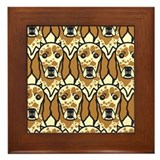 Orange English Setters Framed Tile