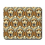 Orange English Setters Mousepad