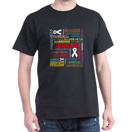Mesothelioma Awareness Collage Dark T-Shirt
