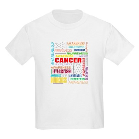 Mesothelioma Awareness Collage Kids Light T-Shirt