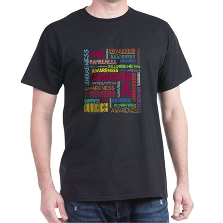Multiple Myeloma Awareness Collage Dark T-Shirt